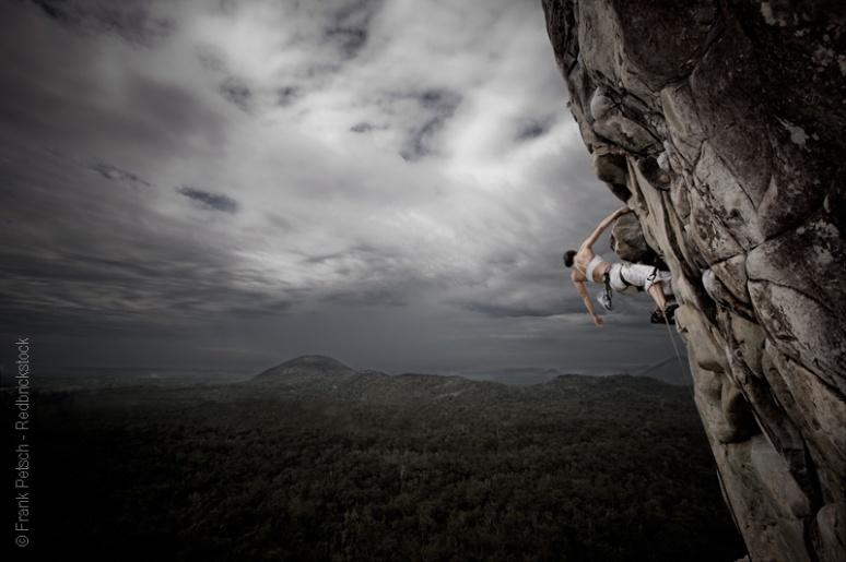 Rock climbing on Mt Tibrogargan by Frank Petsch